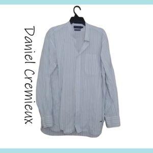 Daniel Cremieux White & Blue Stripe Long Sleeve